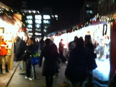 The Christmas market in Union Square the other night.