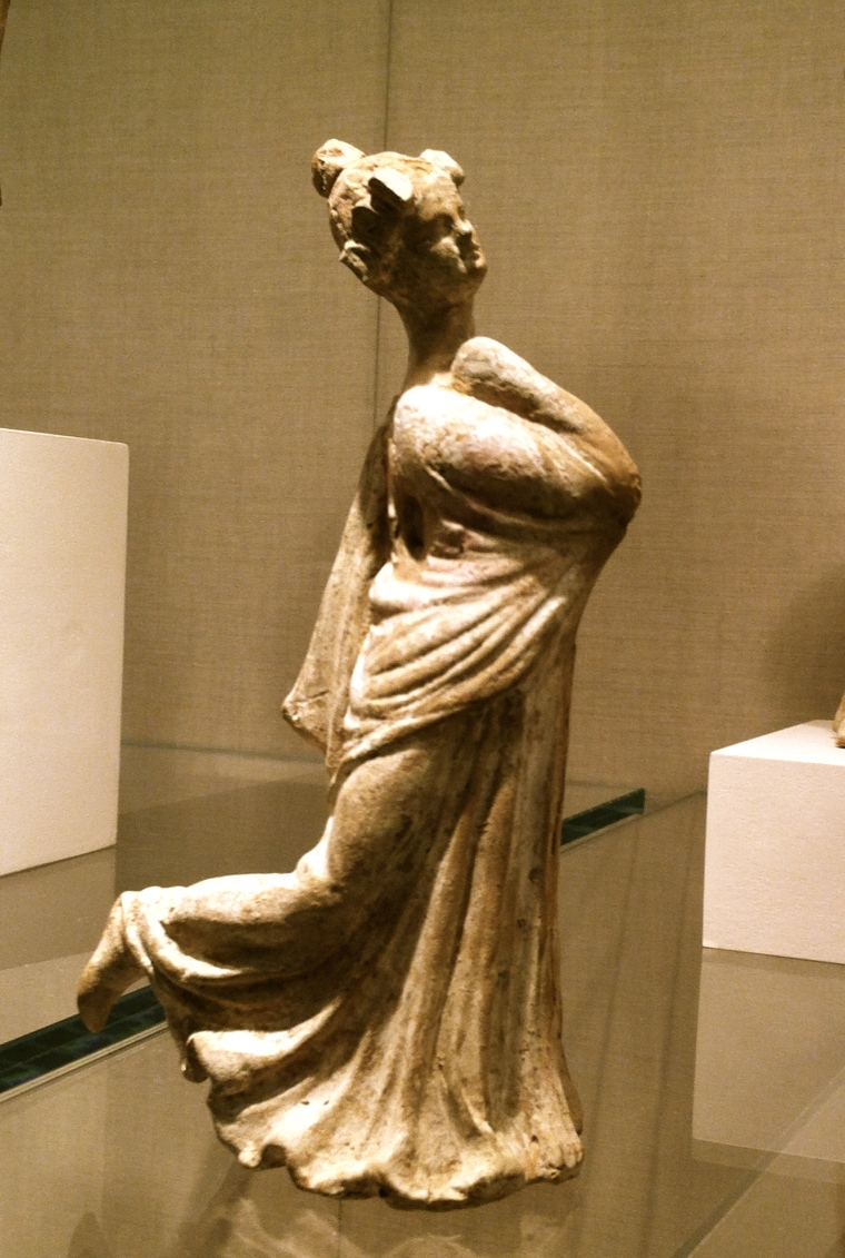 A little dancer at the Greek, southern Italian, Tarentine, 3rd century B.C.