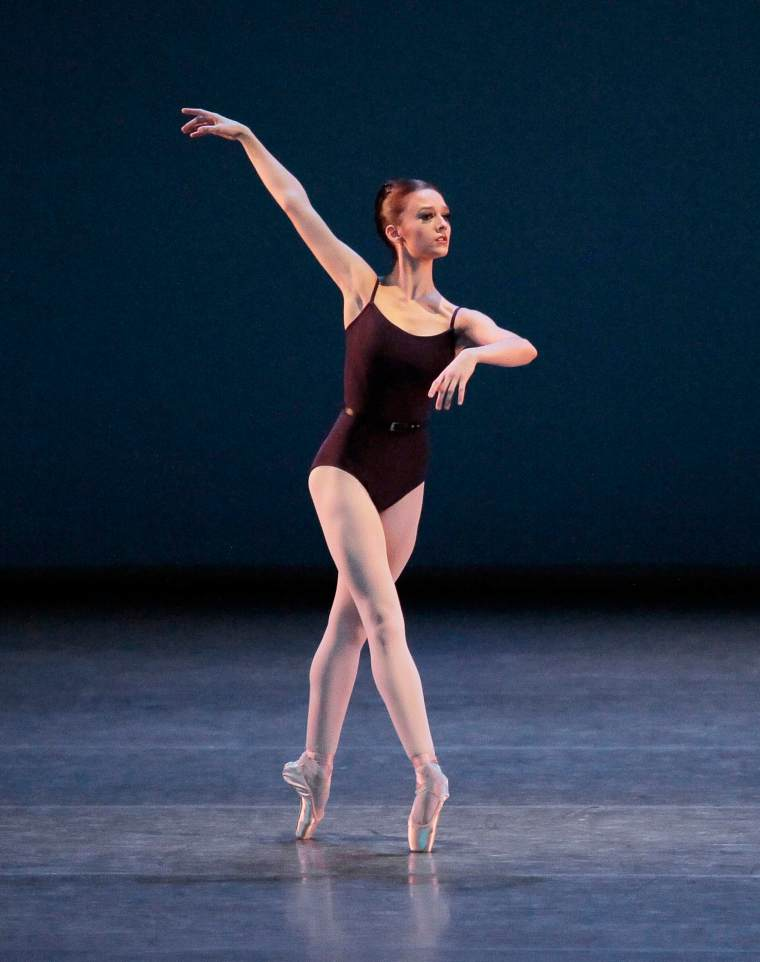 In the quiet solo in Wheeldon's Polyphonia, where she drew us into her world.