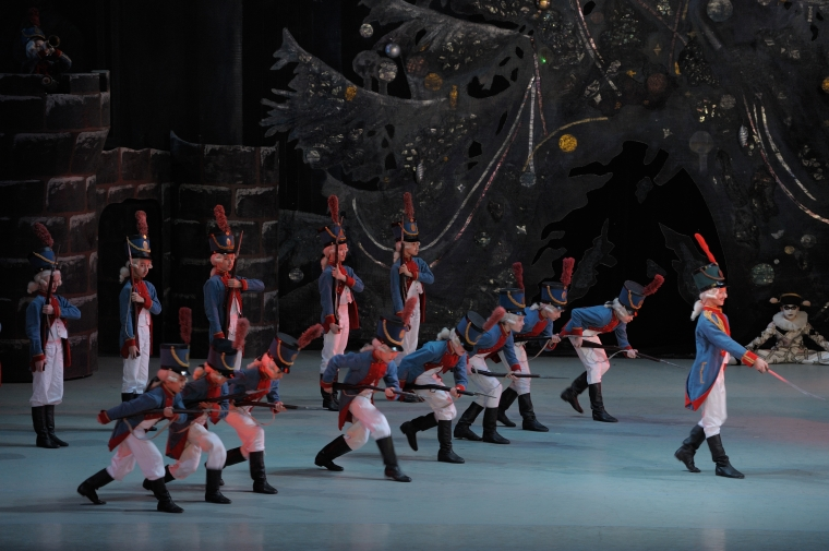 The battle of the toy soldiers in the Mariinsky Nutcracker. Photo by Valentin Baranovsky.