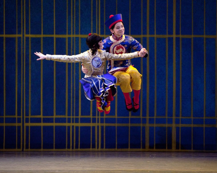 Sarah Lane and Daniil Simkin in the Chinese Dance. Photo by Rosalie O'Connor.