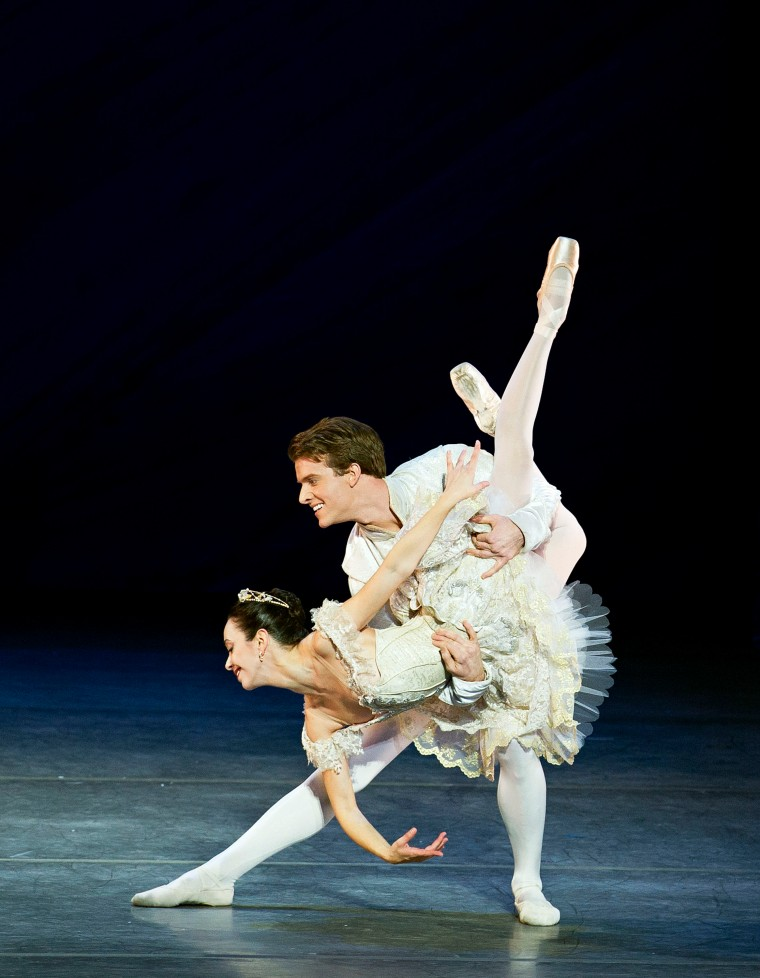Xiomara Reyes and Eric Tamm as Princess Clara and the Prince. Photo by Gene Schiavone.
