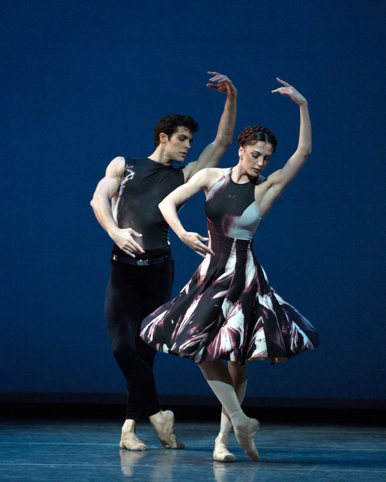 "Roberto Bolle and Veronika Part in Ratmansky's ""Symphony No. 9."" Photo by Rosalie O'Connor."
