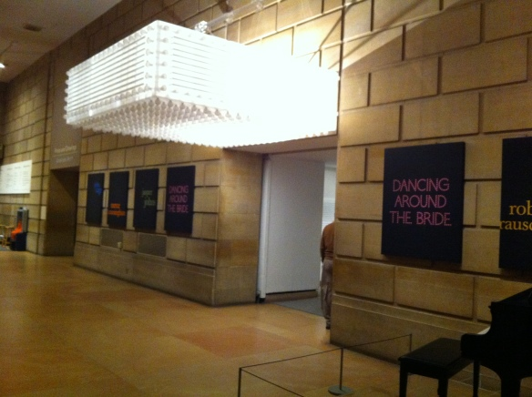 "The marquee at the entrance to the exhibit ""Dancing Around the Bride"" at the Philadelphia Museum of Art. Photo by yours truly."