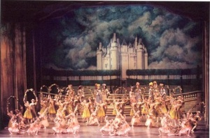 "Balanchine's ""Garland Dance"" in ""Sleeping Beauty."" Photo by Paul Kolnik."