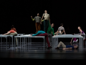 "Juilliard Dance in William Forsythe's ""One Flat Thing, Reproduced."" Photo by Rosalie O'Connor."