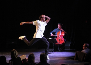 Lil Buck and Yo Yo Ma at Le Poisson Rouge. Photo by Erin Baiano.