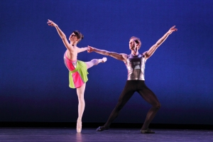 "Georgina Pazcoguin and Charles Askegard in ""Stravinsky Divertimento."" Photo by Paul B Goode."