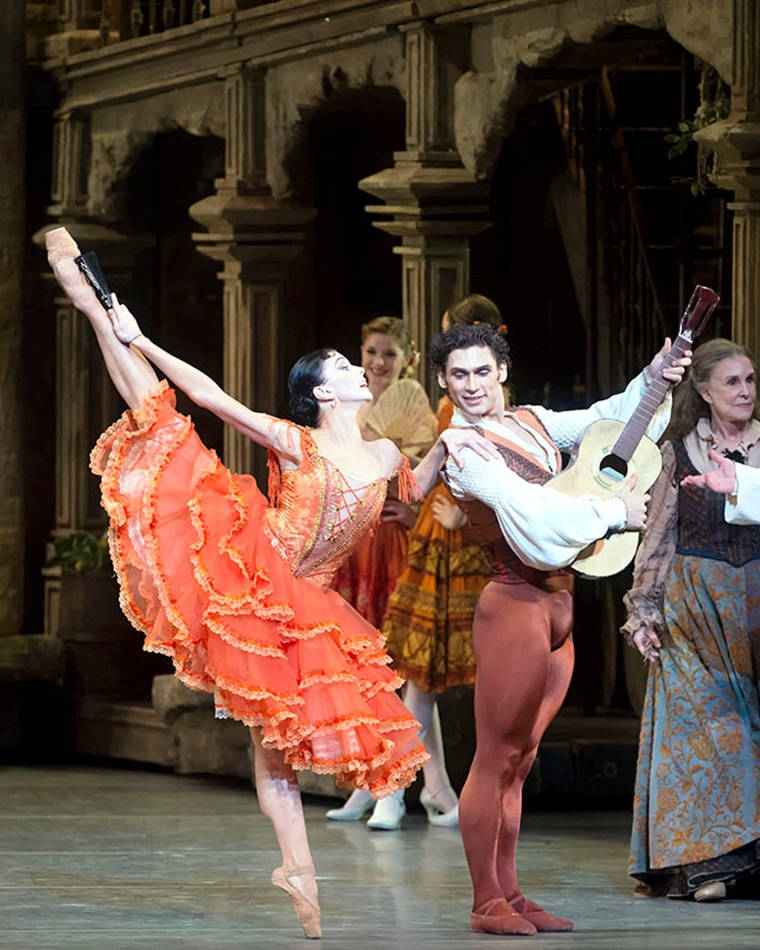Natalia Osipova and Ivan Vasiliev in Don Q. Photo by Gene Schiavone.