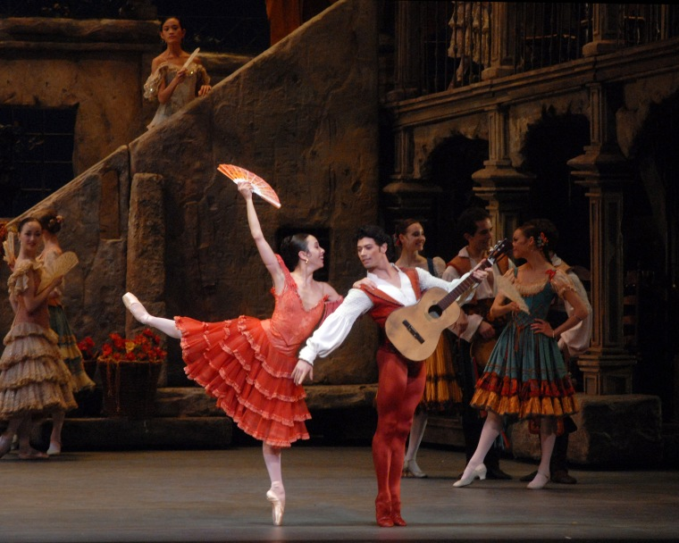 "Xiomara Reyes and Herman Cornejo in ""Don Quixote"" at ABT. Photo by Gene Schiavone."