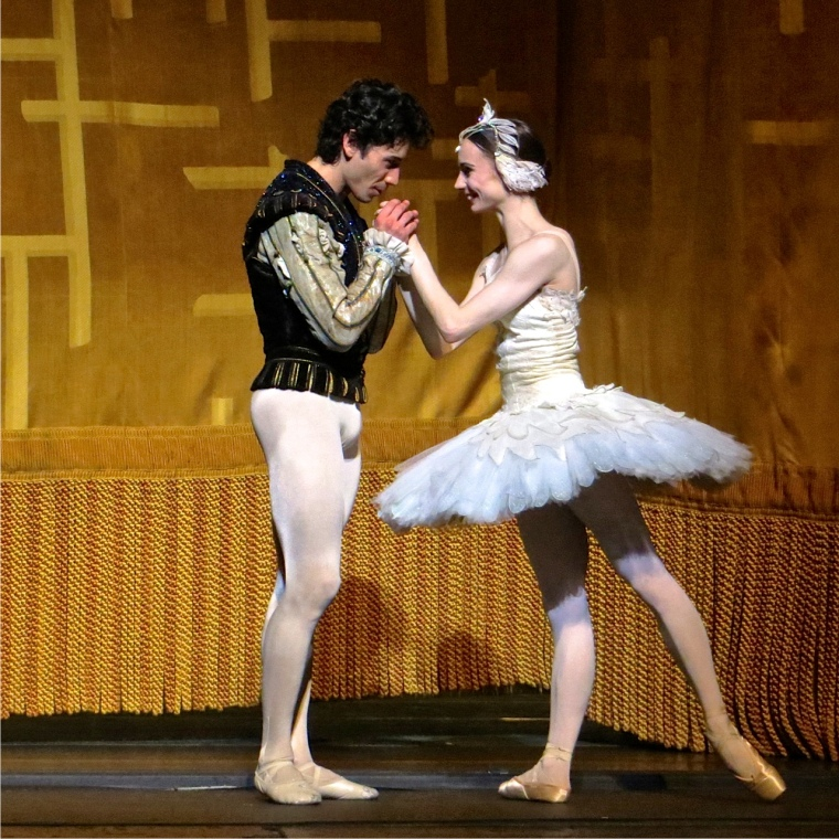 Maria Kochetkova and Herman Cornejo at their curtain call. Photo by Leena Hassan.