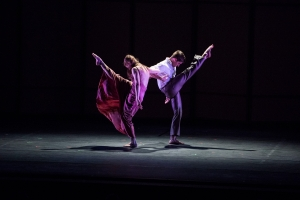 "Jenn Weddel and Spencer Ramirez in ""Jenn and Spencer"" at Ojai. Photo by Timothy Norris."