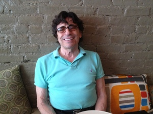 Edward Villella at a café in his new 'hood, Hamilton Heights. Photo by yours truly.