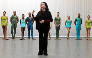 Virginia Johnson with her DTH dancers. Photo by Andrea Mohin for the Times.