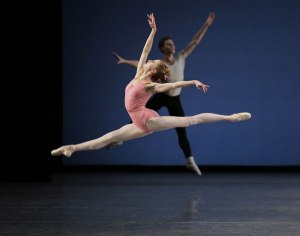 "Sterling Hyltin in ""Symphony in Three Movements."" Photo by Paul Kolnik."