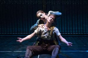 Dominic North (Leo, the gardener) and Liam Mower (as Count Lilac). Photo by Simon Annand.