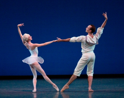 "Sterling Hyltin and Tyler Peck in ""Namouna, a Grand Divertissement,"" by Alexei Ratmansky. Photo by Paul Kolnik."