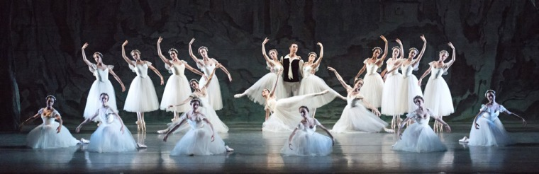 The opening tableau in Les Sylphides. Photo by Gene Schiavone