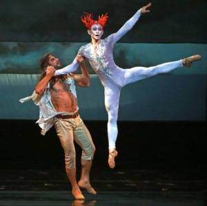 "Marcelo Gomes and Daniil Simkin in ""The Tempest."" Photo by Andrea Mohin."