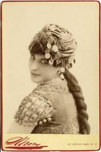 + Click on image to enlarge. The flamenco dancer Carmencita photographed by B. J. Falk, circa 1890.