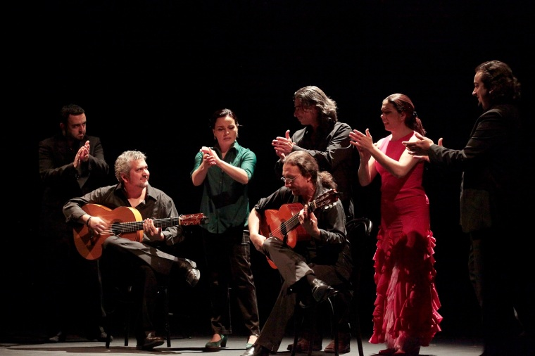 The members of Noche Flamenca. Photo by Rachel Roberts.