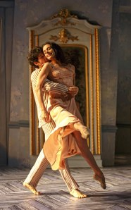 "Herman Cornejo and Alessandra Ferri in Martha Clarke's ""Chéri."" Photo by Joan Marcus."