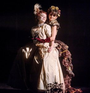 Laura Careless as Marie-Claire and Marisol Cabrera in Nutcracker Rouge. Photo by Phillip Van Nostrand.