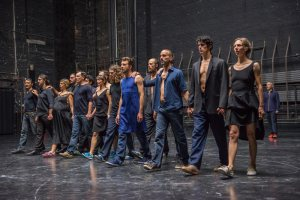 The singers and dancers in Cesena. Photo by Stephanie Berger.