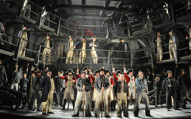 "Michael Grandage's ""Billy Budd."" Photo by Alastair Muir from ""The Telegraph."""