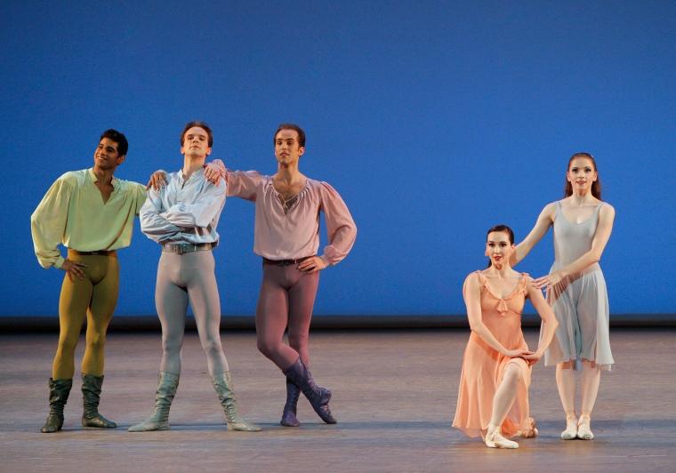 The cast of Dances at a Gathering. Photo by Paul Kolnik.