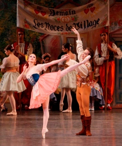 Sterling Hyltin as Swanilda in Balanchine's Coppélia. Photo by Paul Kolnik.