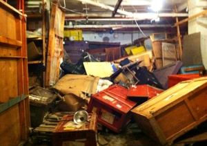 the storage area at Westbeth, a few days after the storm. Photo by me.