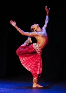 The Odissi dancer Rahul  Acharya. Photo courtesy of World Music Institute.