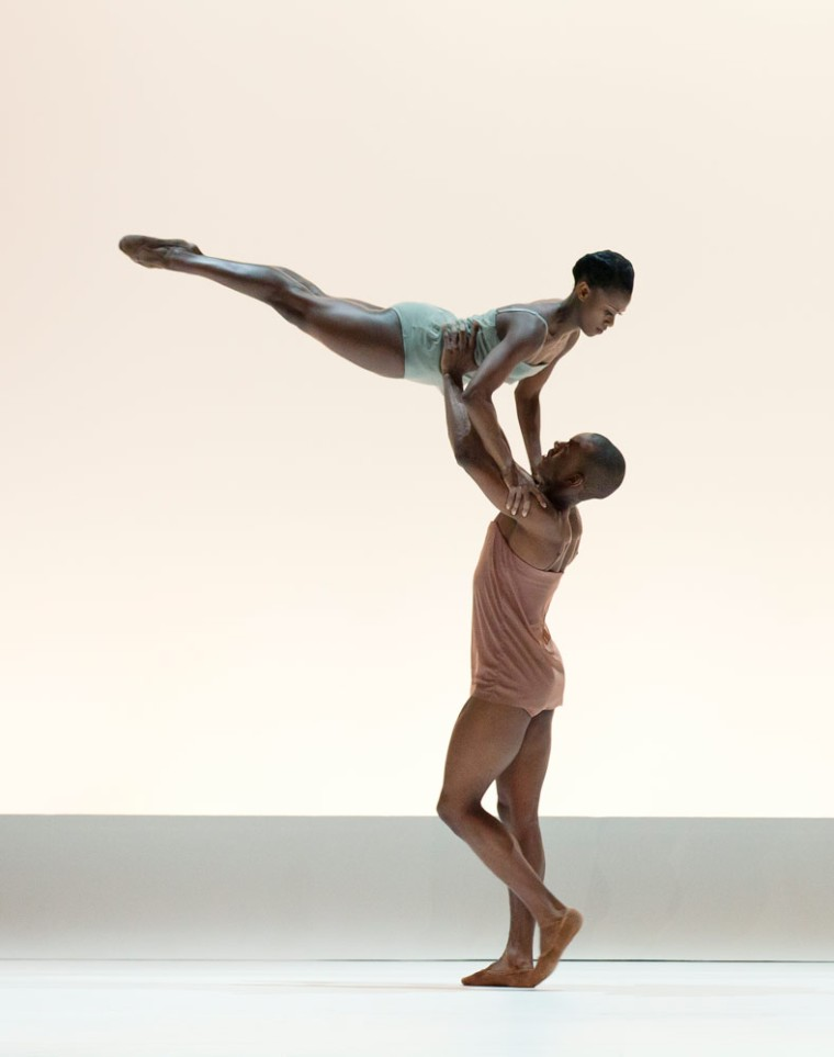 Rachael McLaren and Kirven Douthit-Boyd in Wayne McGregor's Chroma. Photo by Paul Kolnik.