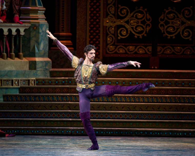 Aléxandre Hammoudi as the Purple Seducer (aka Von Rothbart) in ABT's Swan Lake. Photo by Gene Schiavone.