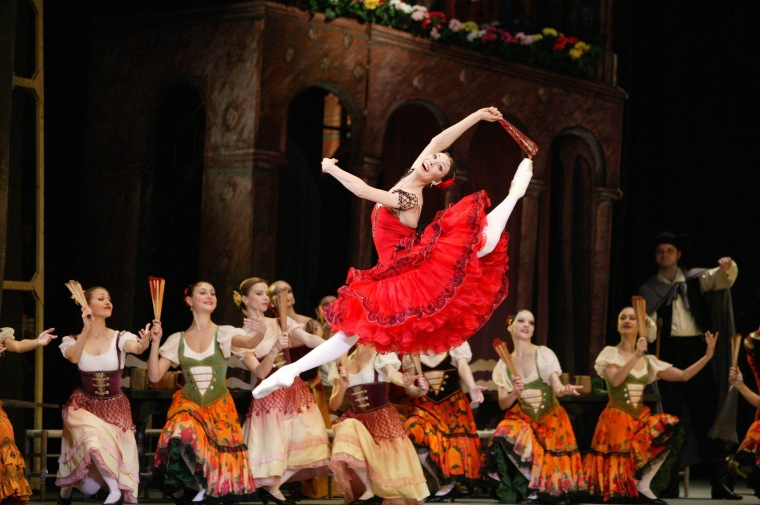 Maria Alexandrova in Bolshoi Ballet's production of Don Quixote. Photo by Damir Yusupov.