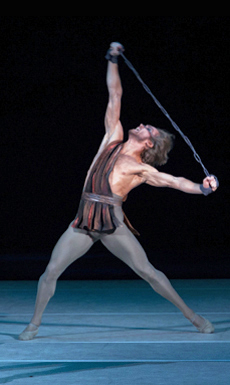 "Mikhail Lobukhin in Yuri Grigorovich's ""Spartacus."" Photo by Elena Fetisova."
