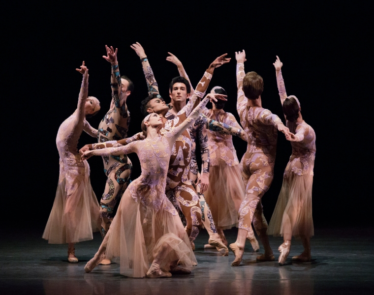 Justin Peck's Belles-Lettres with designs by Mary Katrantzou. Photo credit Paul Kolnik