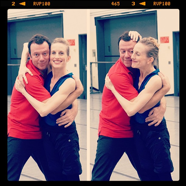 Wendy Whelan and Alexei Ratmansky in the studio. Photo by Craig Hall.