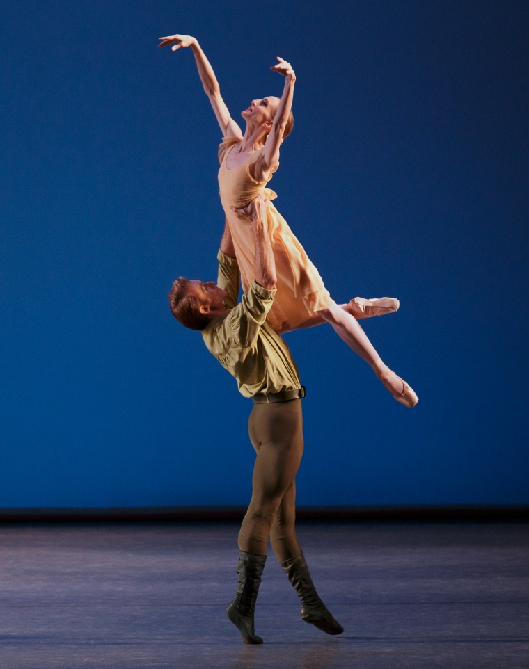 As the Girl in Apricot in Dances at a Gathering, with Adrian Danchig-Waring.