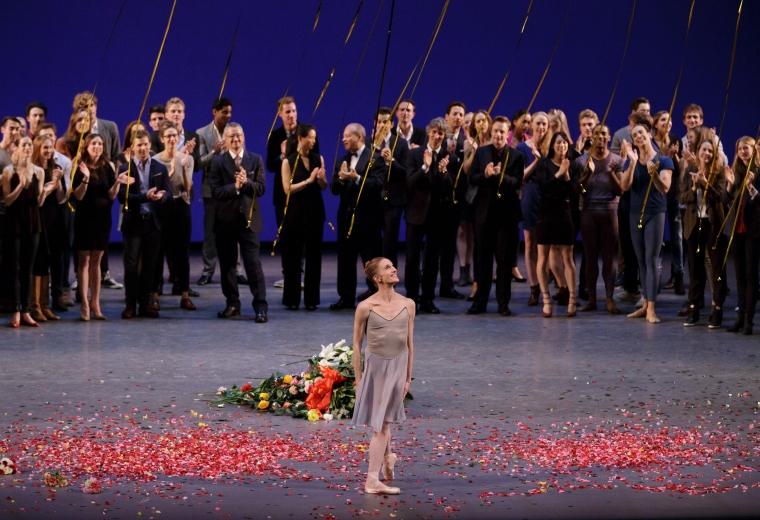 Whelan smiles at the crowd during her final bows. (Paul Kolnik)