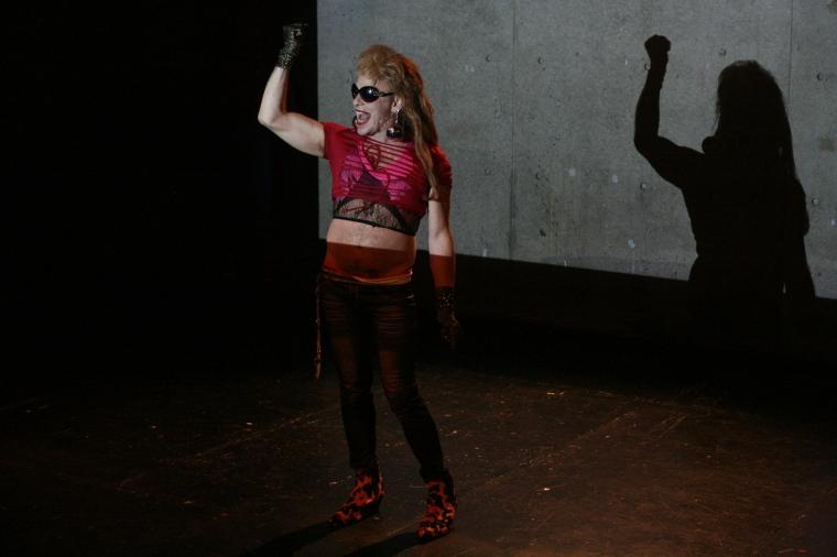 Mark Dendy as Princess Pawny Ariadne in Labyrinth. Photo by Marisa @RockPaper