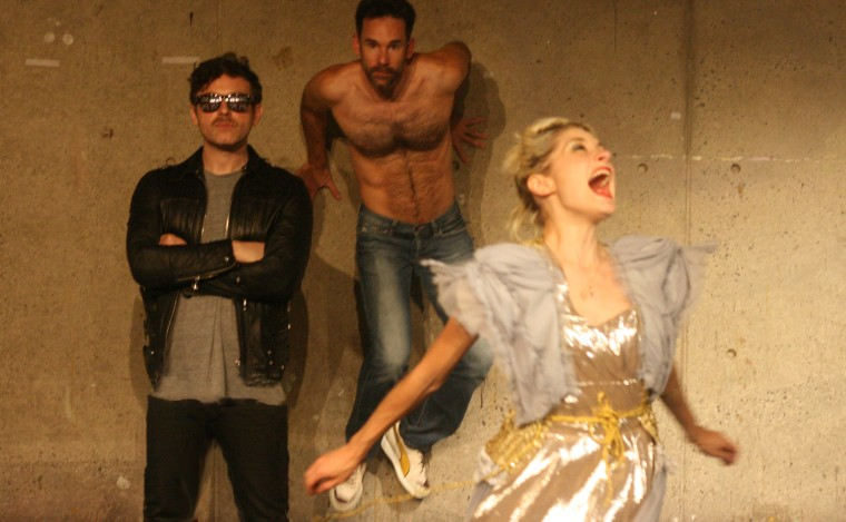 Stephen Donovan, Matthew Hardy, and Heather Christian in Labyrinth. Photo by Marisa @RockPaper