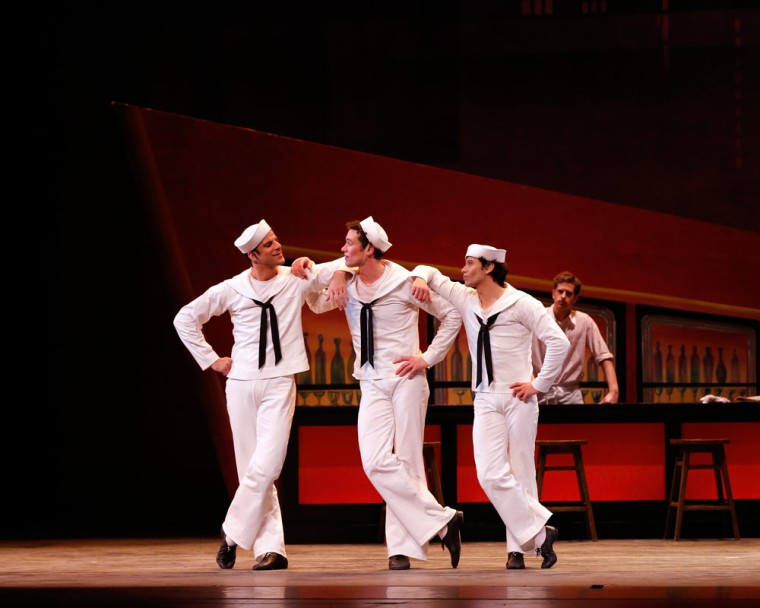 Marcelo Gomes, Cory Stearns and Herman Cornejo in Jerome Robbins' Fancy Free. © Marty Sohl. (Click image for larger version)