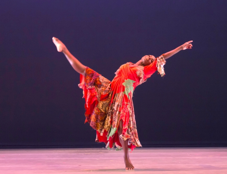 Hope Boykin in Matthew Rushing's ODETTA.  Photo by Steve Wilson