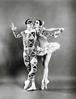 Edward Villella and Patricia McBride in Harlequinade, 1965. Photo credit: Photofest
