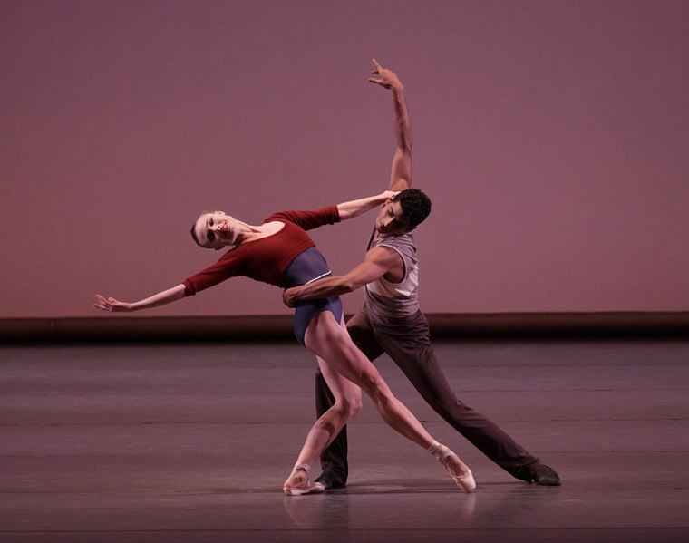 "Sara Mearns and Amar Ramasar in Justin Peck's ""Rodeo, Four Danced Episodes."" Phot by Paul Kolnik."