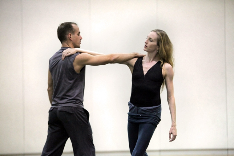 Wendy Whelan and Brian Brooks rehearsing Restless Creature, photographed by Erin Baiano.