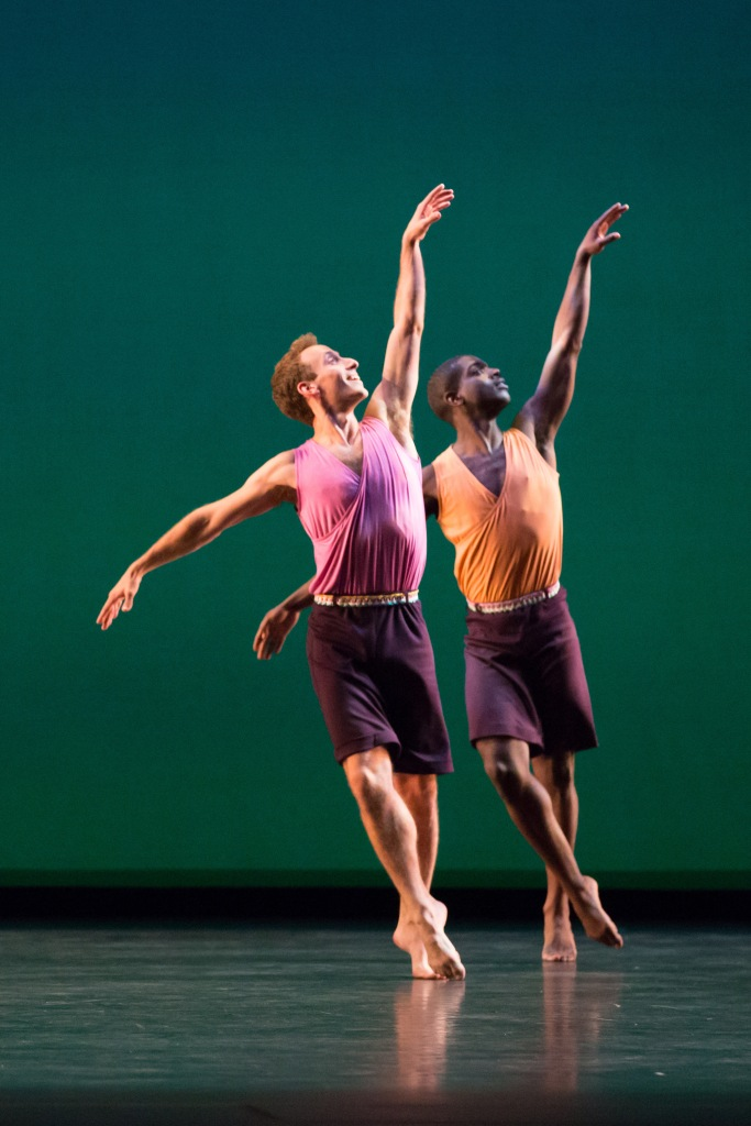 "Aaron Loux and Brandon Randolph in ""Words."" Photo by Ani Collier"
