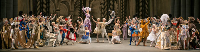 The final tableau of Alexei Ratmansky's Sleeping Beauty for ABT. Photo by Gene Schiavone.